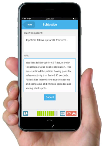 Clinical Documentation for iPhone